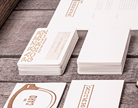 Self Promo Letterpress Brand Identity