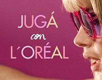 Tab de concursos Jugá con L'Oréal