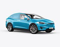 Tesla Model X Electric Car Mockup