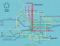 Information Design - Taipei Metro Map