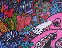 Sketch para mural de Legaspi*