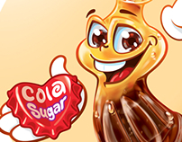 Cola jelly character design