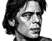 Benecio Del Toro portrait