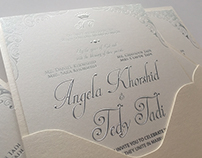 Angela & Tedy Wedding Invitation Suite