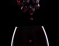 Red wine.Advertising.Pouring wine