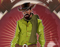 """DJANGO Liberty"" comics by Thomas Rousvoal"