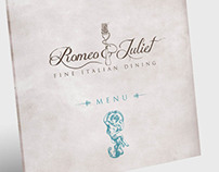 Romeo & Juliet Restaurant logo & Menu