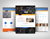 Vitruvian Fitness Website Design