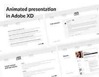 Animated presentation in Adobe XD