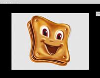 Illustration funny biscuits