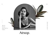 Aesop Website Design Concept