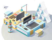 Making of an isometric illustration