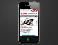 CDN – modular responsive content portal site