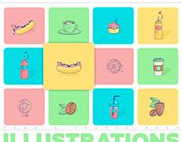 Food illustrations *Coffee Shop
