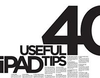 40 Useful iPad Tips Poster