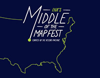 Middle of the Map Fest Shirt   2013