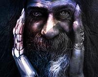 God & Man - Digital Art