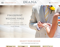 Finger Print Wedding Rings Landing Page for Campaign