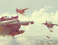 Bombers Flock