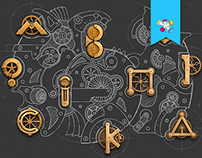 Illustration of the mechanism Wacom & Ps