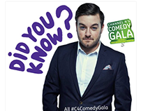 Channel 4 Comedy Gala - Social Media Graphics