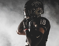 Blacked Out. Cyclone Football Uniforms 10.14.18.