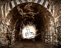 light at the end of the tunnel, panoramic photo