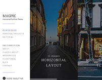MAGPIE - Horizontal WordPress Portfolio Theme