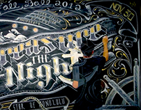 TYPOGRAPHY | Chalk Art Mural