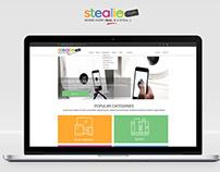 Stealio website design