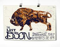 Last Bison Gig Poster