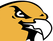 Riverside Hawks Sports Logo Illustration