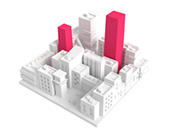 CityStats - 3D Illustration