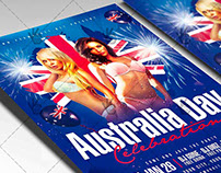 Australia Day Celebration - Club Flyer PSD Template