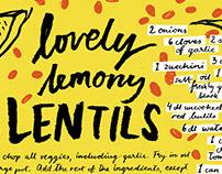 Lovely lemony lentils