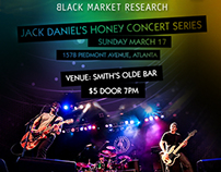 Concert Poster: Black Market Research