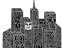 OBEY Cityscape Tee Design