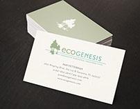 ecoGenesis Logo & Paper System