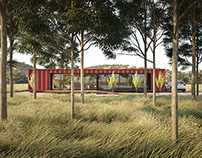CGI - Australian Shipping Container House