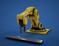 Robot Arm - 3D animation