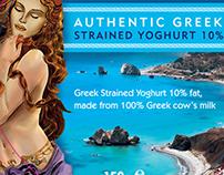 Aphrodite Greek Yoghurt Packaging