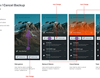 Mobile Back Up Service UX Pattern