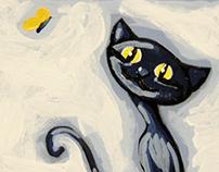 Flop disk kitten