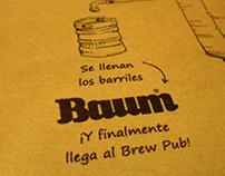 Ilustración para individuales - Cervecería Baum