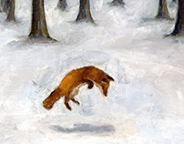 Leaping Fox