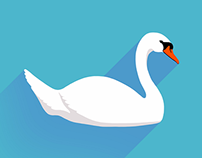 Flat Swan Icon