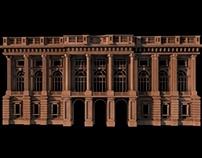3D Palazzo Madama façade | Turin, Italy | 1721