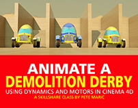 Animate a Demolition Derby Using Motors in Cinema 4D