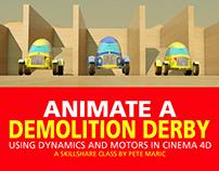 Animate a Demolition Derby Using Motors in Cinema 4D