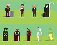pixel tarot (one weekend project)